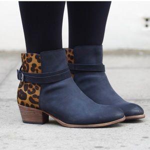 Boden Leopard Booties